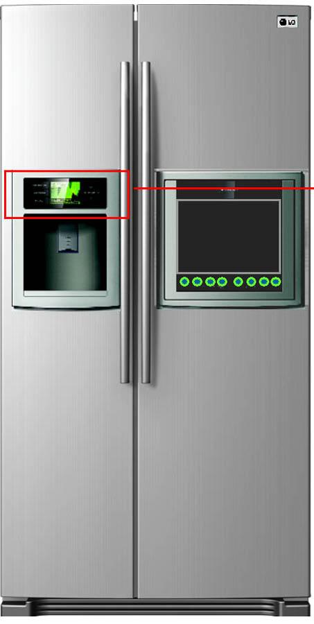 Merveilleux LG TV Refrigerator