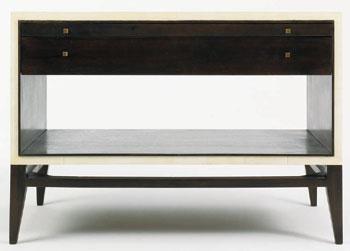 Faux Parchment End Table
