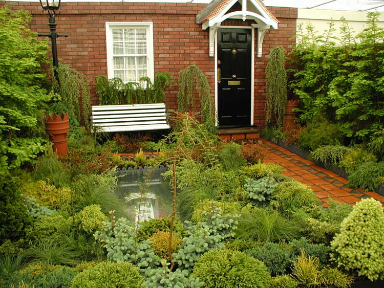 modren front garden ideas terraced house design