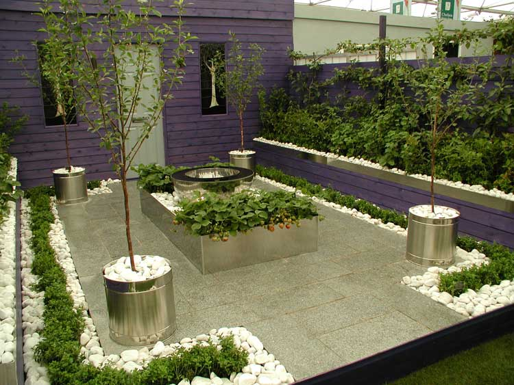 Rhs chelsea flower show awards 2005 international design for Modern front garden design