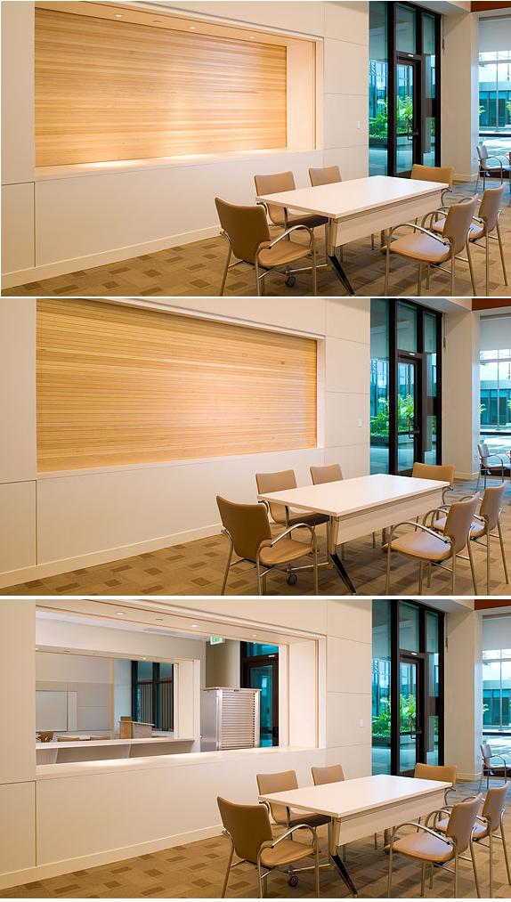 Roll Down Door http://designawards.wordpress.com/2007/08/31/woodfold-roll-up-doors/