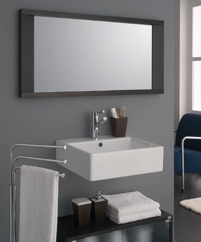 wood mirror. Bathroom furniture