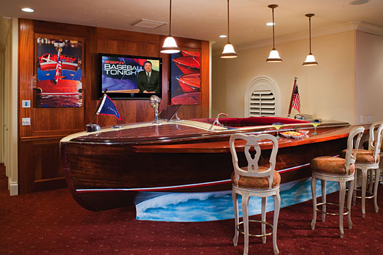 Man Cave Boat Bar : Old boat turned into unique bar international design awards