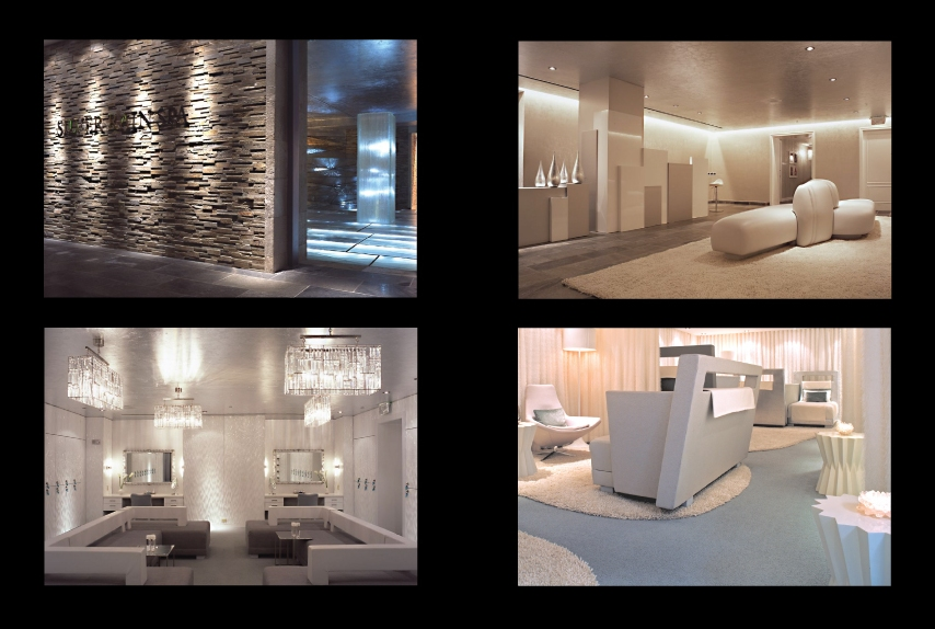 Silver rain spa international design awards for Spa treatment room interior design
