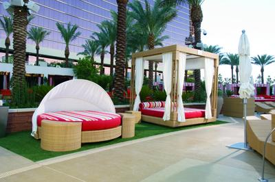 Canopy and round pool beds international design awards for Pool canopy bed