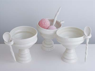 Ice-cream bowl with spoon