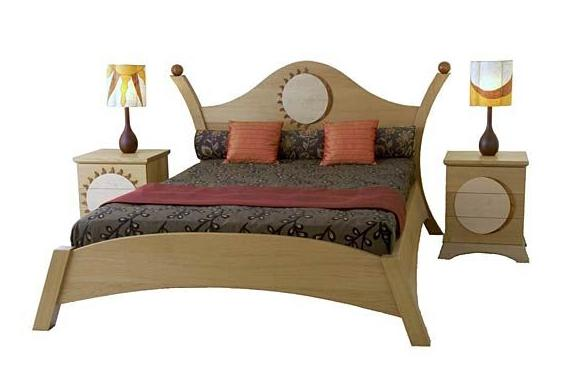 wooden bed designs with box