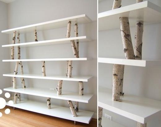 DIY Birch Branch Shelf 520 x 411